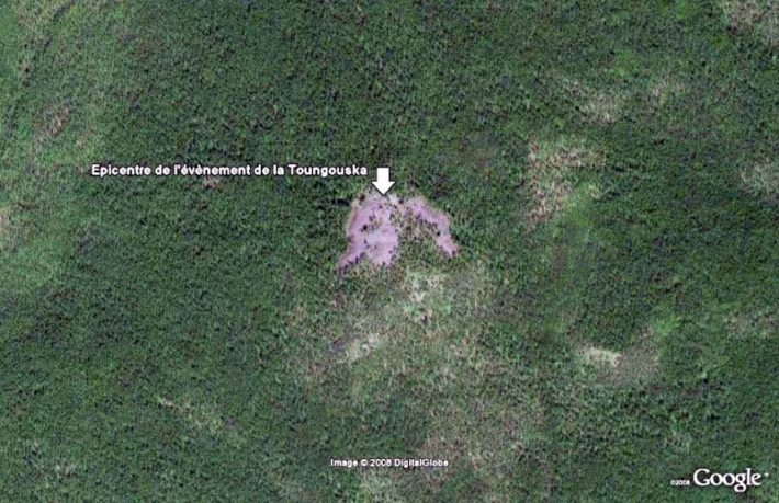 [L'événement de la Tougounska] : Théorie la plus admise : désagrégation d'un météoroïde